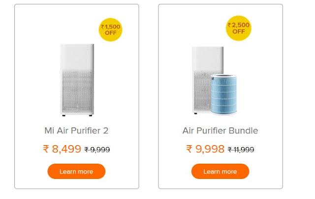 Redmi Diwali sale – 'DIWALI WITH Mi' - MI Air Purifiers