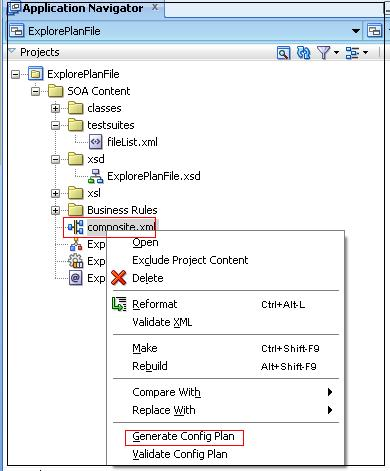 Deployment plan file to replace the JCA Adapters properties – Oracle
