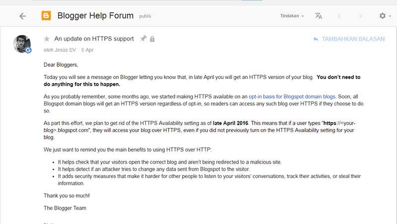 ketersediaan https untuk blogspot