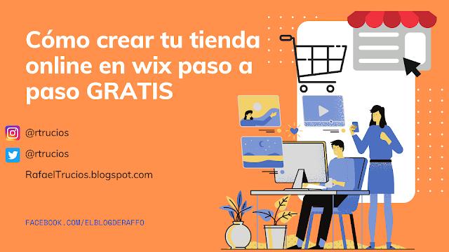 como crear una tienda online en wix paso a paso