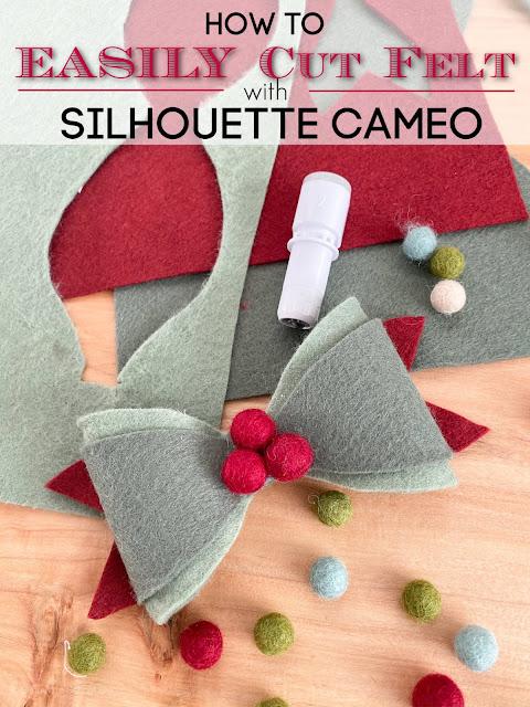 silhouette 101, silhouette america blog, felt, cut settings, rotary blade