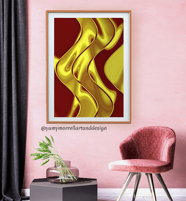 colorful-red-golden-art-abstract-by-yamy-morrell