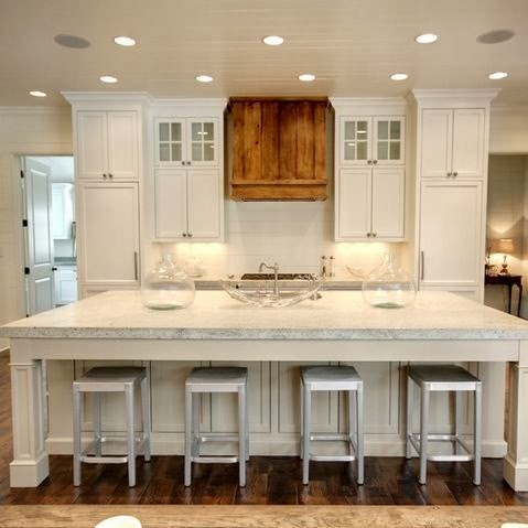 Kitchen plans life on virginia street - Kitchen island with cooktop and seating ...