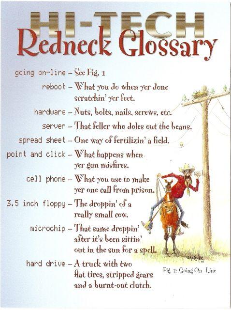 Hi Tech Redneck Glossary
