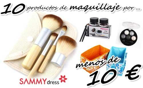 10 Productos de maquillaje por menos de 10 € vistos en Sammydress