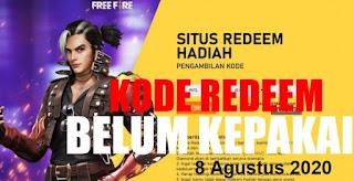 Kode Redeem FF 8 Agustus 2020