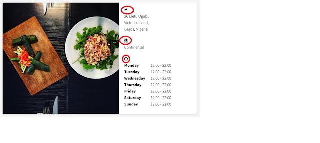 menu,localizacion de un restaurante