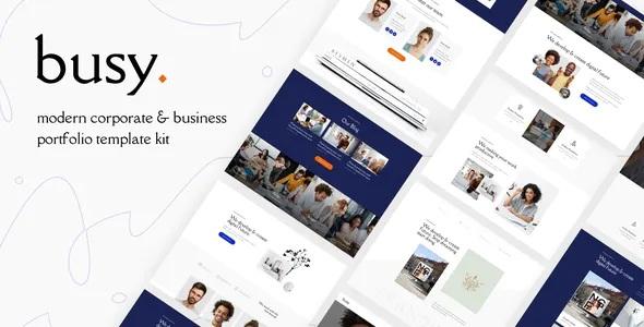 Best Modern Corporate & Business Portfolio Elementor Template Kit