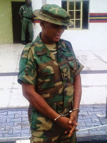 fake female soldier arrested akure