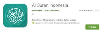 Aplikasi Al Quran indonesia Untuk HP Android