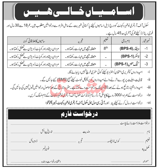 Pak Army School of Artillery Jobs 2021 Latest Jobs in Pakistan 2021