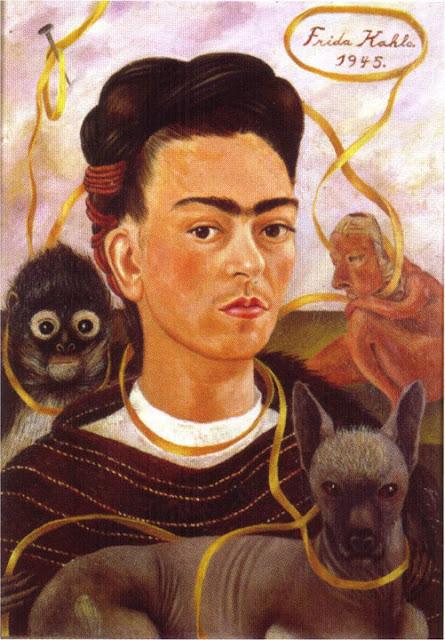 Фрида Кало - Автопортрет с маленькой обезьянкой. 1945