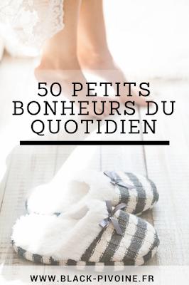 50 petits bonheurs du quotidien Black Pivoine