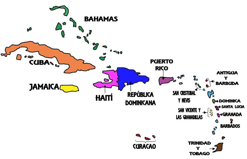 25 Inspirador Mapa De America Insular