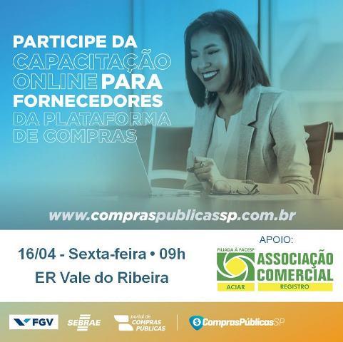 Parceria entre ACIAR, FGV e SEBRAE promoverá  capacitação para fornecedores de compras públicas