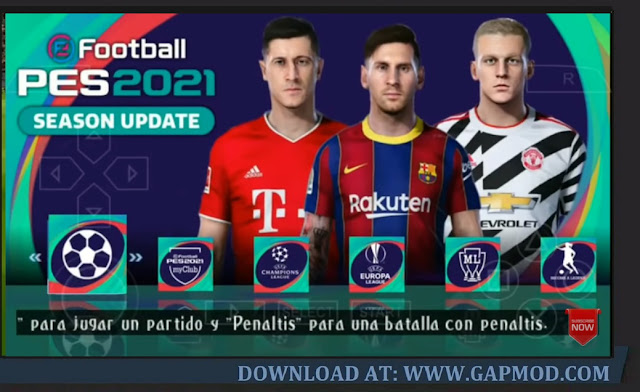 PES 2021 PPSSPP Lite 200MB Android Fix Cursor Camera PS5 Update