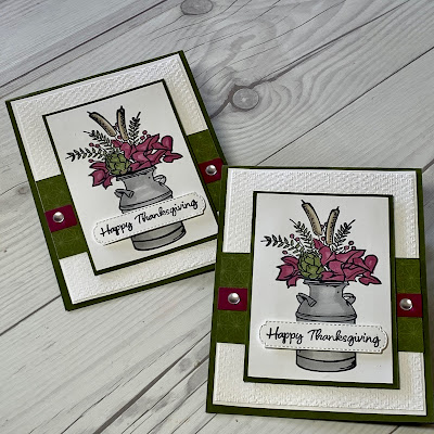 Thanksgiving Card using Stampin' Up! Country Home Stamp Set