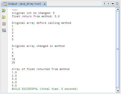 Return an array from method