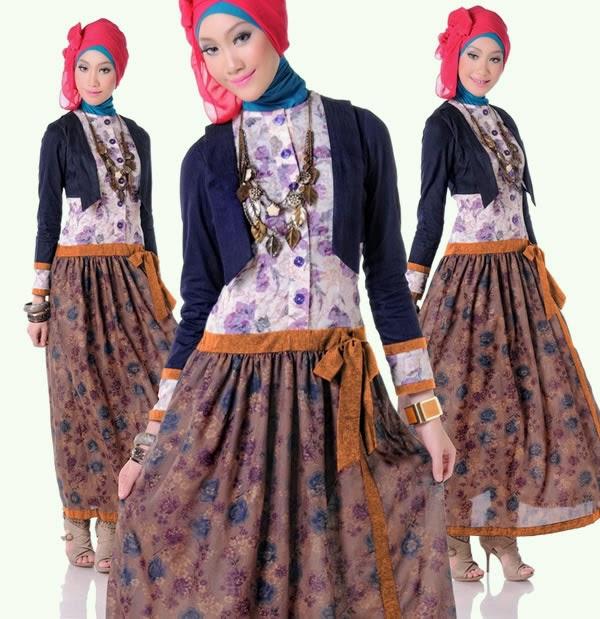 Model baju muslim terbaru untuk remaja putri Foto baju gamis anak muda terbaru