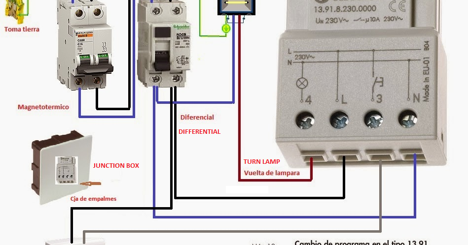 Electrical diagrams: 4 WIRES ELECTRONIC CONTACTOR