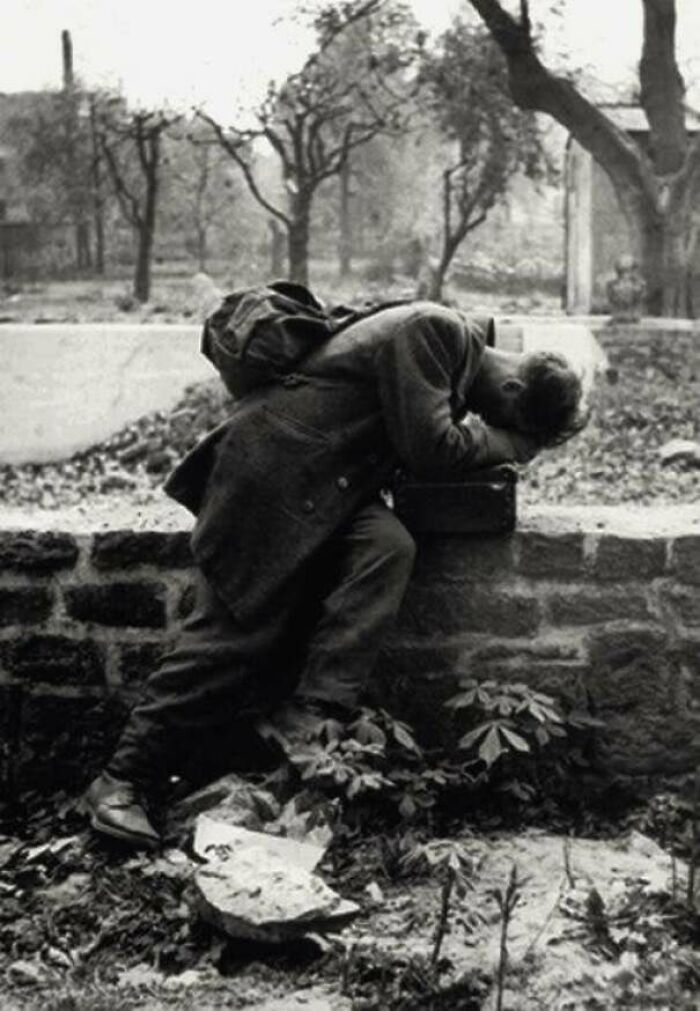 #24 A German Soldier Returns Home Only To Find His Family No Longer There. Frankfurt, 1946