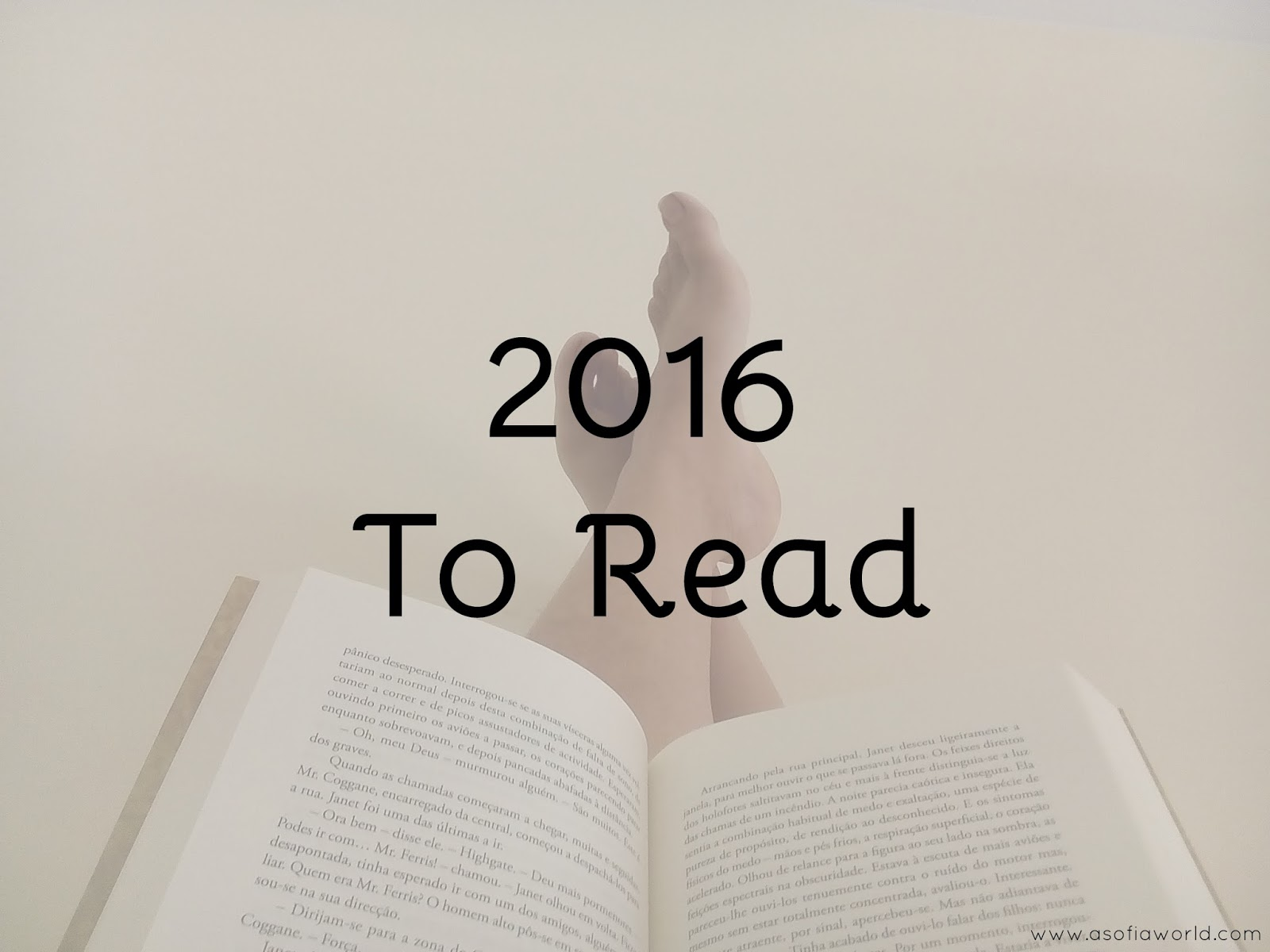 2016 to read list.