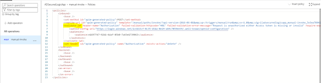 policy on inbound processing  code view