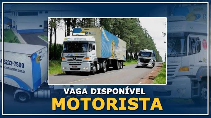 Transportadora Rec abre vagas para Motorista em 4 Estados
