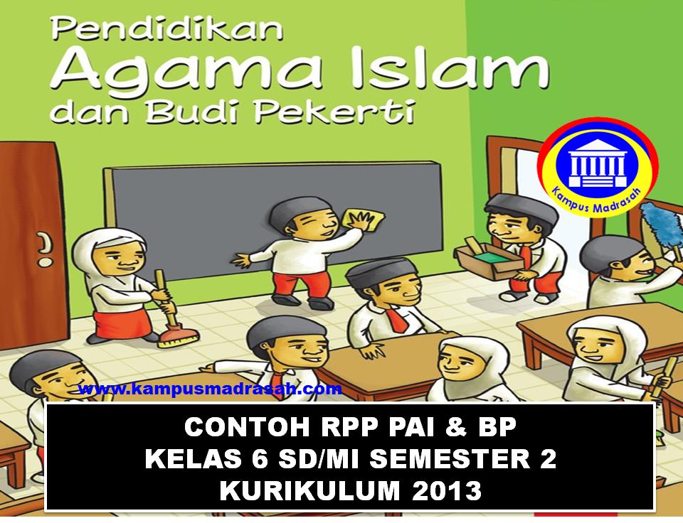 Contoh RPP 1 Lembar Kelas 6 SD/MI