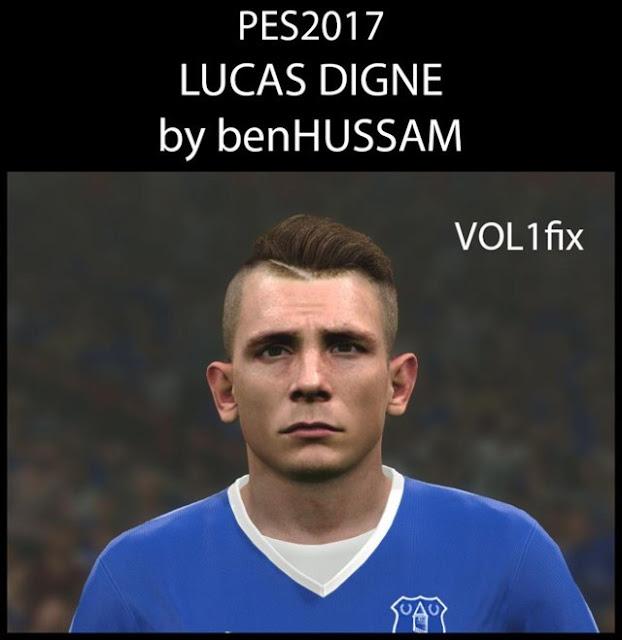 Pes 2019 Faces Lucas Moura By Hugimen: Lucas Digne Face (Everton) - PES 2017 - PATCH PES
