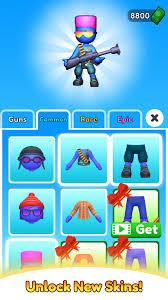 Equipments like short gun, bazooka, grenade are available in bazooka boy mod apk