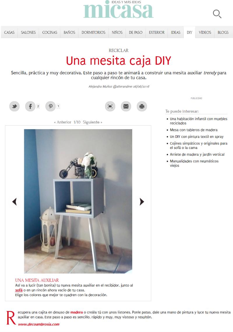 mesita caja diy en la web revista mi casa