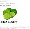 Lime Lime Ettin Beni Lime!