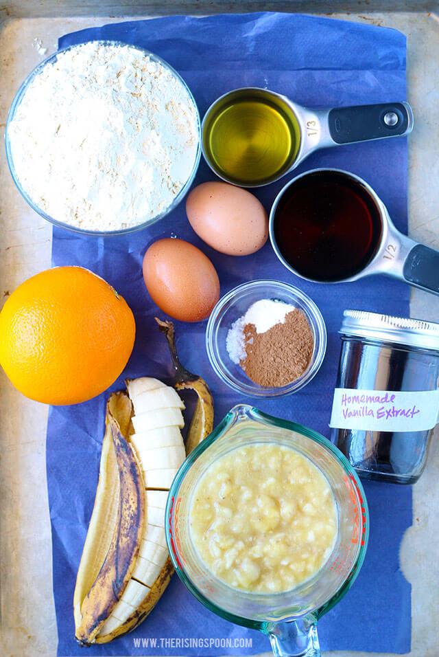 Healthy Banana Bread with Einkorn Wheat Flour