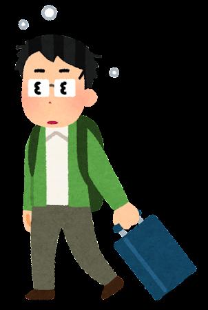 時差ボケのイラスト(男性)