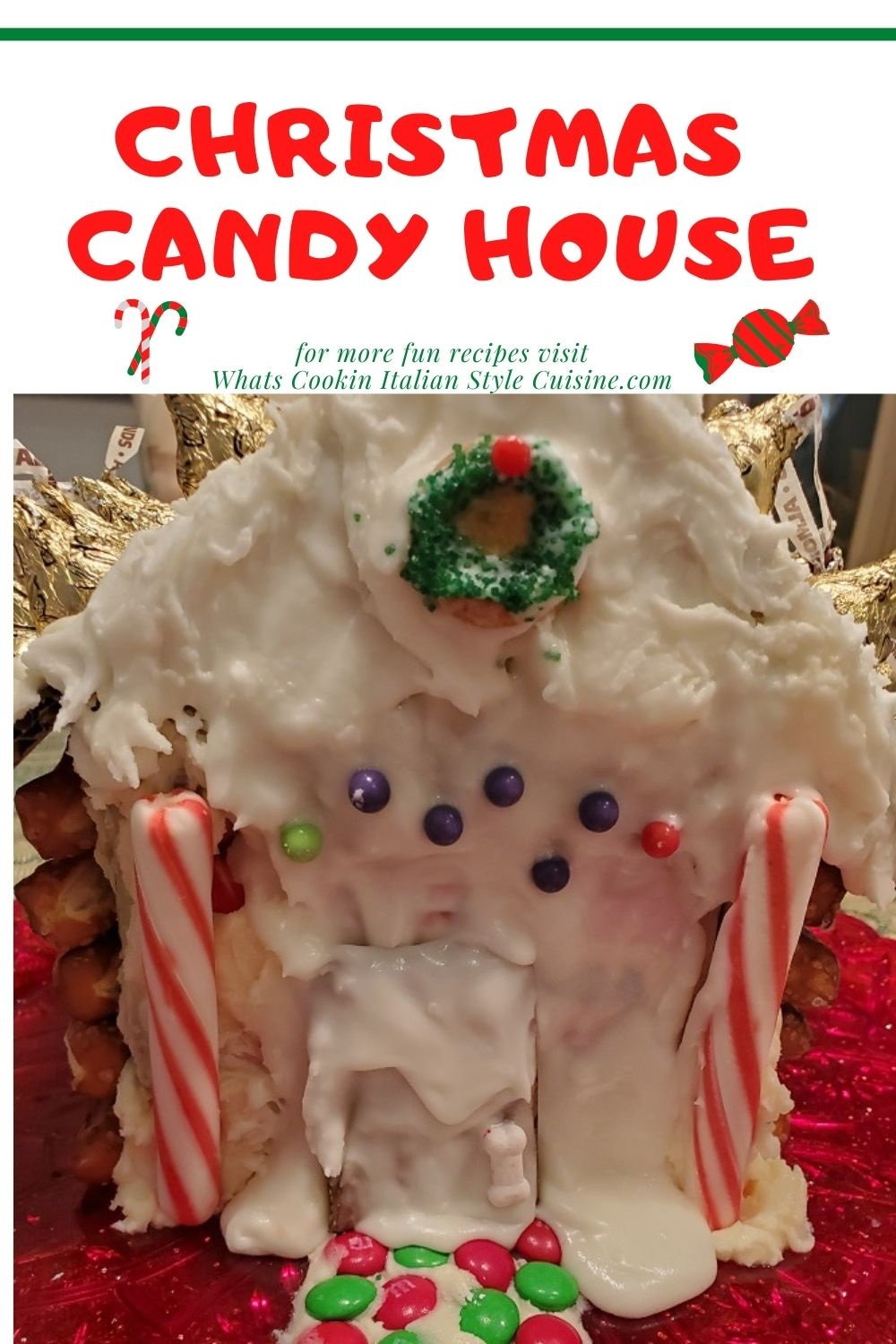 this is a pin for later how to make a candy Christmas house