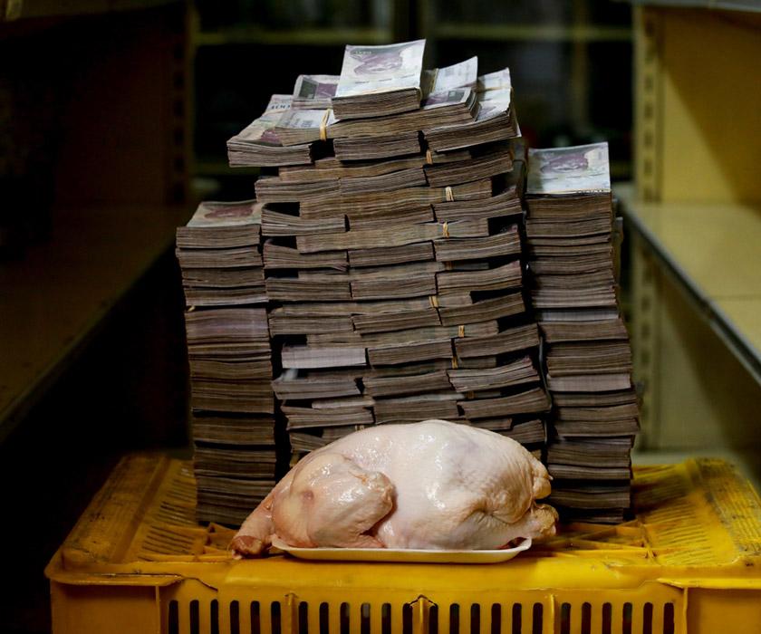 Ще у серпні минулого року агентство Reuters унаочнило вартість деяких товарів у венесуельських боліварах. З того часу інфляція суттєво зросла