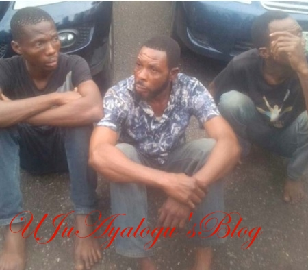 Photos: Lagos police arrest two Uber drivers who specialize in robbing their female clients at night