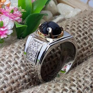 cincin emban perak batumulia akik custom handmade micoseting ukir tatah