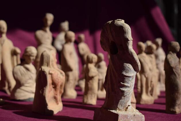 Figurines found at ancient Myra in southern Turkey