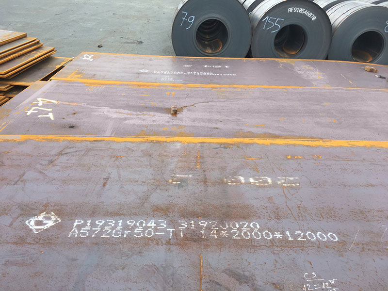 Lô tấm dày A572 mới về cập cảng TPHCM