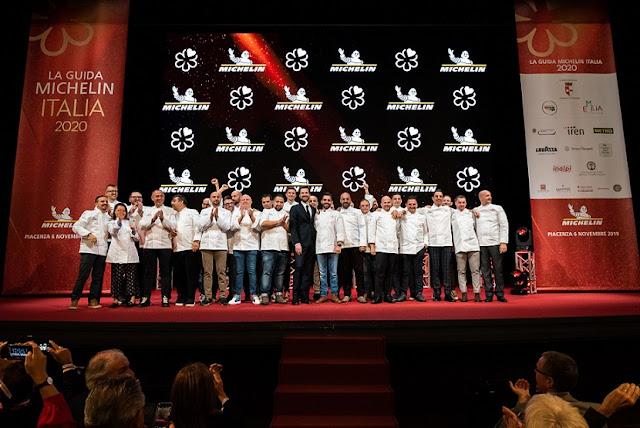 Premiazione della Guida Michelin al teatro di Piacenza