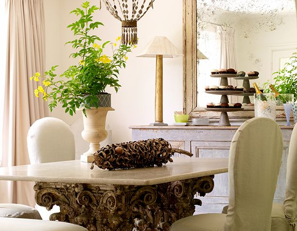 Shannon Bowers Swedish modern dining room interior design antiques