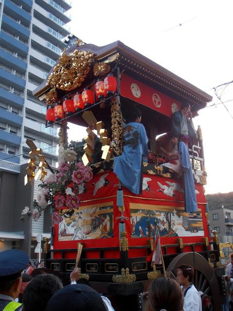 carroza participando en el Otsu Matsuri (festival de Otsu)