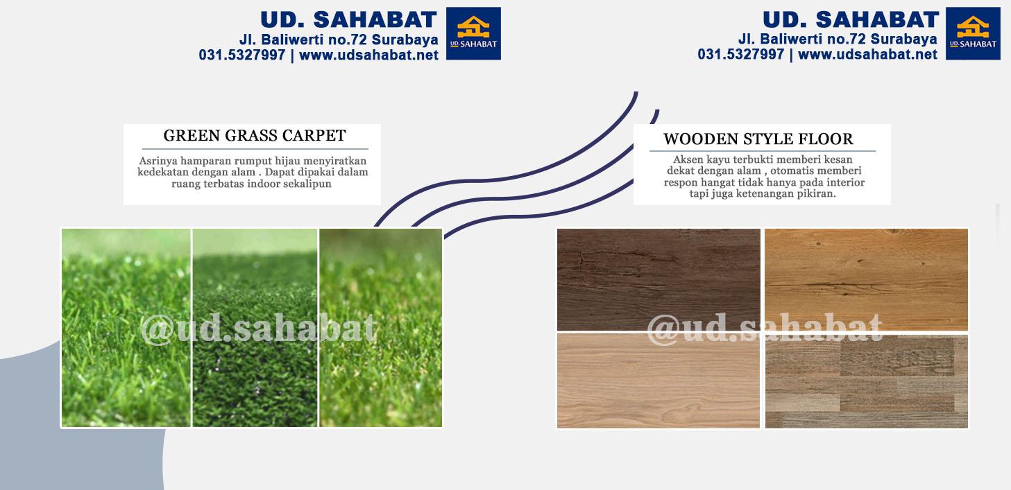jual interior lantai kayu rumput palsu surabaya