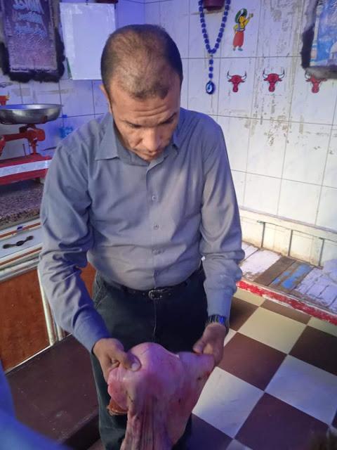شبح سوهاج يضبط 50 كيلو لحوم فاسدة في حملة ليليه
