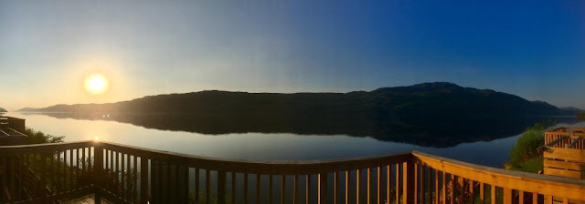 sunrise at Loch Ness Highland Lodges