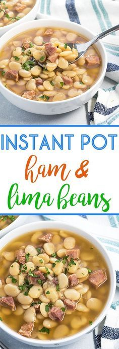 INSTANT POT LIMA BEANS AND HAM RECIPES