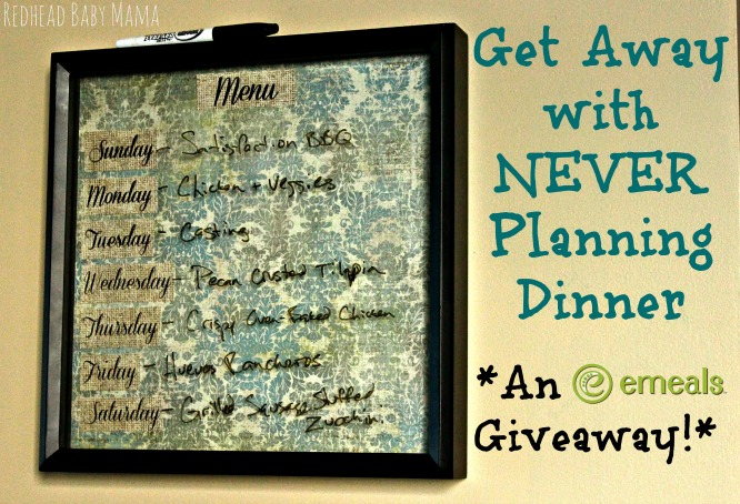 eMeals Giveaway - Never plan dinner EVER AGAIN!