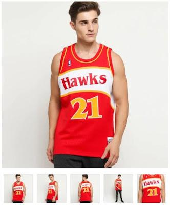 Jersey Basket Hawks